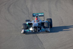 Team Mercedes F1, Michael Schumacher, 2011 Royalty Free Stock Photo