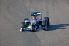 Team Mercedes F1, Michael Schumacher, 2011 Royalty Free Stock Photo