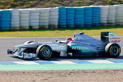 Team Mercedes F1, Michael Schumacher, 2011 Royalty Free Stock Images
