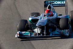 Team Mercedes F1, Michael Schumacher, 2011 Stock Photos