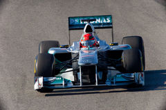 Team Mercedes F1, Michael Schumacher, 2011 Royalty Free Stock Image