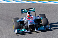 Team Mercedes F1, Michael Schumacher, 2012 Royalty Free Stock Photography