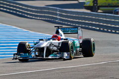 Team Mercedes F1, Michael Schumacher, 2012 Royalty Free Stock Images