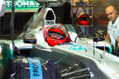 Team Mercedes F1, Michael Schumacher, 2012 Stock Image