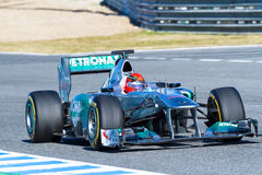 Team Mercedes F1, Michael Schumacher, 2012 Stock Photo