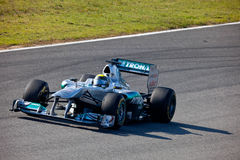 Team Mercedes F1, Nico Rosberg, 2011 Stock Photography