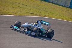 Team Mercedes F1, Nico Rosberg, 2011 Stock Image