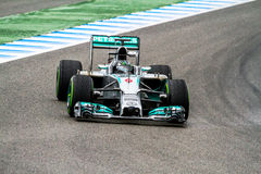 Team Mercedes F1, Nico Rosberg, 2014 Royalty Free Stock Images