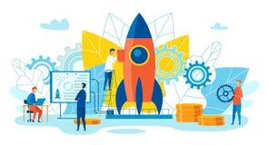 Team Metaphor Leadership Vector Illustration. vector illustration
