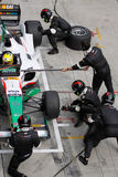 Team Mexico refuel and change tires Stock Image