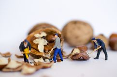 Miniature people - figurines stock image