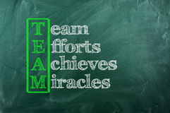 Team miracle Royalty Free Stock Images