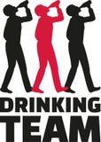 Team mit drei trinkendes Männern vektor abbildung