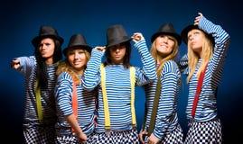 Team mit fünf Frauen Lizenzfreie Stockfotos