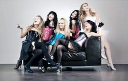 Team mit sechs Frauen Stockfotografie
