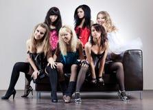 Team mit sechs Frauen Stockfoto