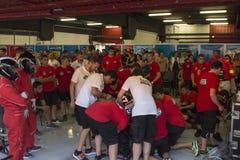 Team Monlau Repsol Technical 24 ore di resistenza Fotografie Stock