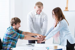 Team motivation in the office Stock Images