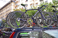 Team Movistar Canyon Race Bike Royalty Free Stock Photos