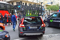 Team Movistar Car And Bikes Stock Photos