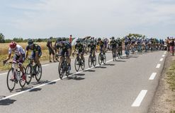 Team Movistar dans le Peloton - Tour de France 2017 Photo stock