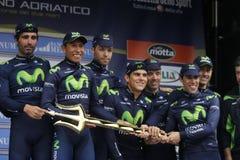 Team Movistar Stock Images