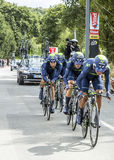 Team Movistar - Team Time Trial 2015 Royaltyfri Fotografi