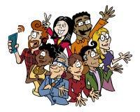 0007 Team Multicultural ilustración del vector