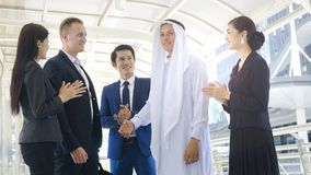 Team of multinationality business people smart man and woman Stock Image