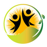 Team nature logo vector stock illustration