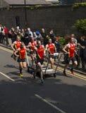 Team 1 nella corsa 2015 del letto del knaresborough Immagini Stock Libere da Diritti