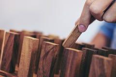 Team o conceito abstrato do negócio, fim acima do puttin da mão do negócio Imagem de Stock Royalty Free