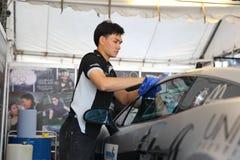 Team o serviço na raça na série super de Tailândia Foto de Stock