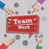 Team o trabalho ilustração royalty free
