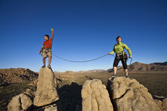 Free Team Of Climbers On The Summit. Royalty Free Stock Image - 15209166