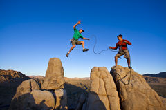 Free Team Of Climbers On The Summit. Stock Images - 15209514