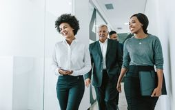 Free Team Of Corporate Professionals In Office Corridor Royalty Free Stock Photography - 128692927