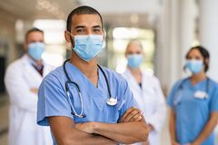 Free Team Of Doctors And Nurses In Hospital Royalty Free Stock Photography - 213953277