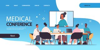 Free Team Of Doctors Having Video Conference Mix Race Medical Professionals Discussing At Round Table Medicine Healthcare Royalty Free Stock Images - 221038169