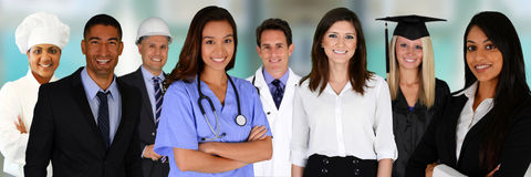 Team Of Professionals Royalty Free Stock Image