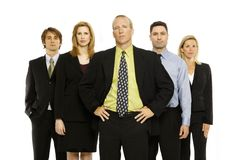 Team of office workers. Business workers stand with pride Royalty Free Stock Image