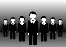 The team of office workers Royalty Free Stock Images