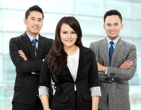 Team of office workers smiling Royalty Free Stock Images