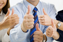 Team ok. Portrait of business team�s hands showing sign of okay Stock Images
