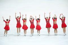 Team Olympia dans la ligne Photographie stock