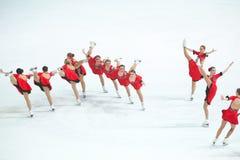Team Olympia-Tanz Lizenzfreies Stockfoto