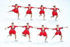 Team Olympia twee groepen Royalty-vrije Stock Afbeeldingen