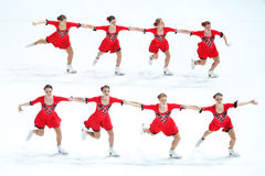 Team Olympia zwei Gruppen Lizenzfreie Stockbilder