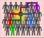 Team op het werk vector illustratie