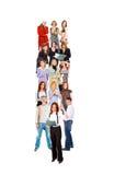 Team op maart Royalty-vrije Stock Afbeelding